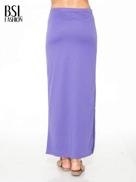 Fioletowa maxi spódnica z rozcięciem z boku                                  zdj.                                  4