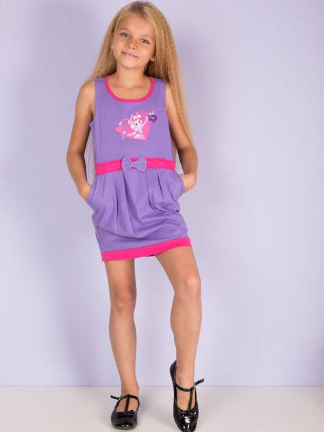 Fioletowa sukienka dla dziewczynki MY LITTLE PONY                              zdj.                              3