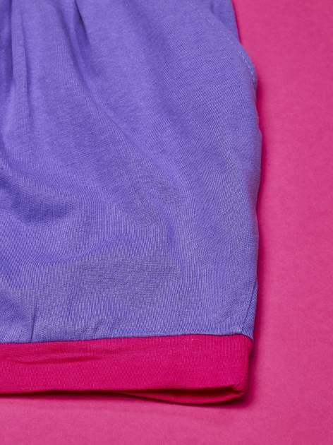 Fioletowa sukienka dla dziewczynki z kokardką i kieszonkami MY LITTLE PONY                              zdj.                              2