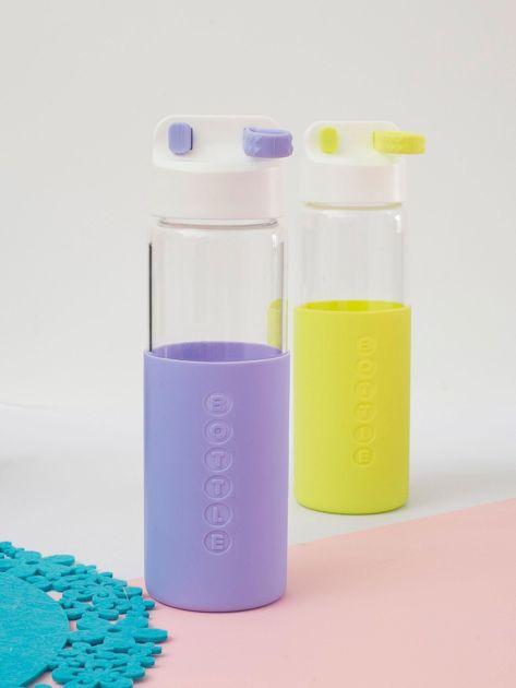 Fioletowa szklana butelka z zakrętką                              zdj.                              1