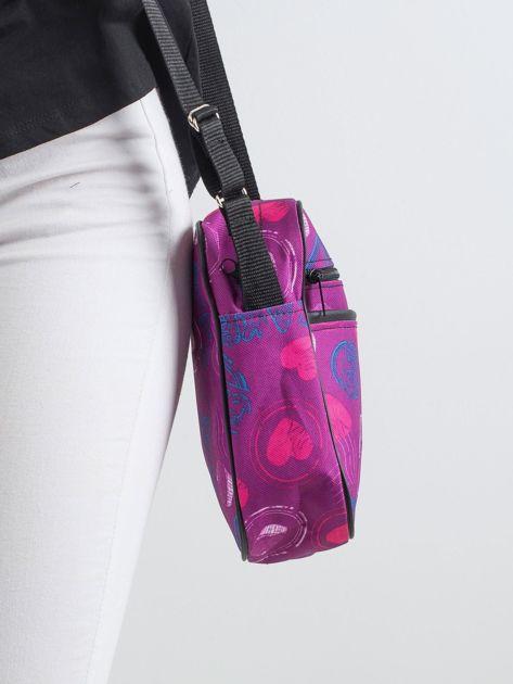 Fioletowa torebka we wzory                               zdj.                              3