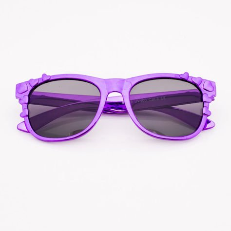 Fioletowe Dziecięce Okulary przeciwsłoneczne Z Metalicznym Połyskiem                              zdj.                              1