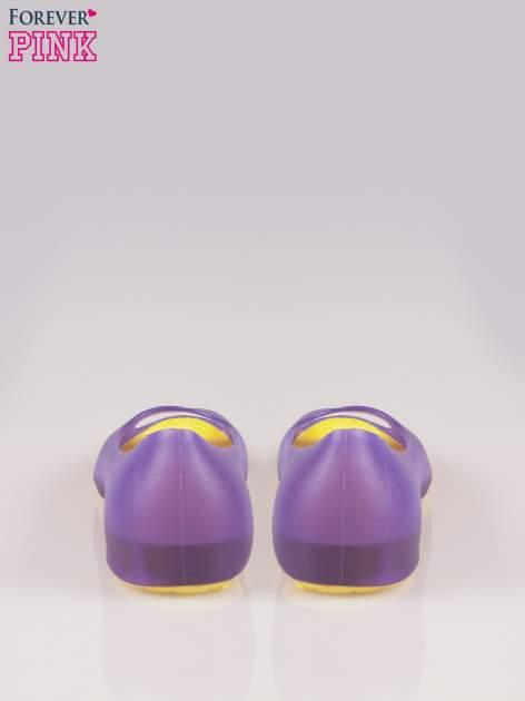 Fioletowe gumowe baleriny peep toe                                  zdj.                                  3