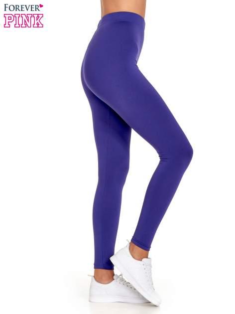 Fioletowe legginsy basic z lekkim ociepleniem                                  zdj.                                  3