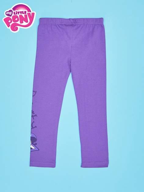 Fioletowe legginsy dla dziewczynki motyw MY LITTLE PONY                                   zdj.                                  2