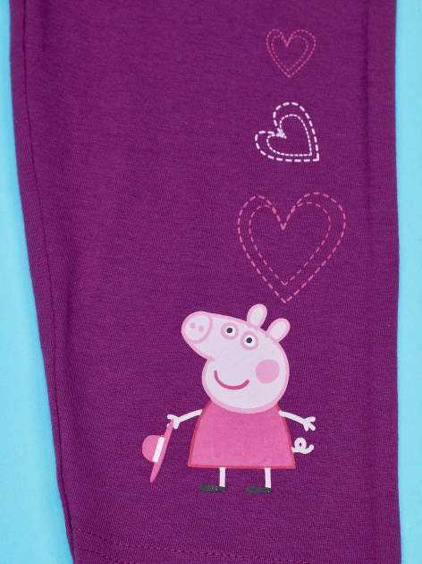 Fioletowe legginsy dla dziewczynki nadruk ŚWINKA PEPPA                                  zdj.                                  6
