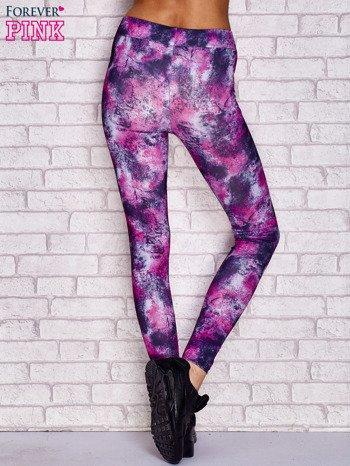 Fioletowe legginsy z graficznym nadrukiem