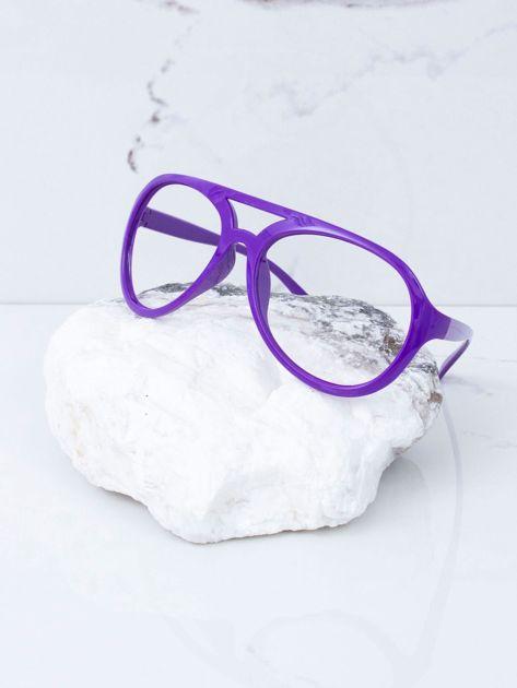Fioletowe okulary bez szkieł                              zdj.                              2