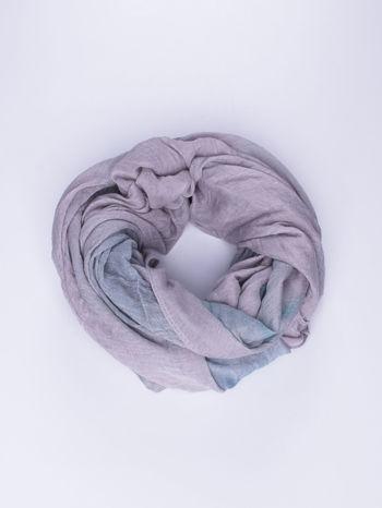 Fioletowo-granatowa chusta z efektem ombre