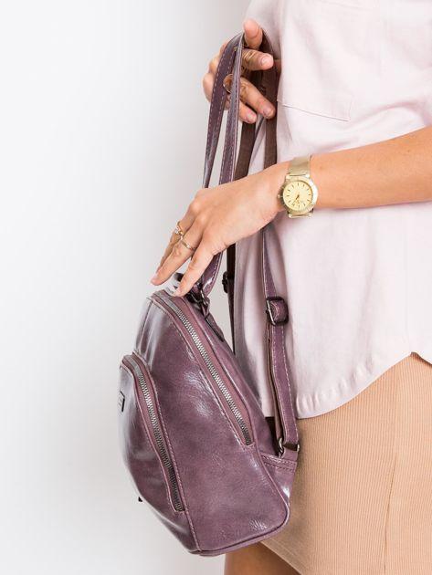 Fioletowy plecak damski ze skóry ekologicznej                              zdj.                              3