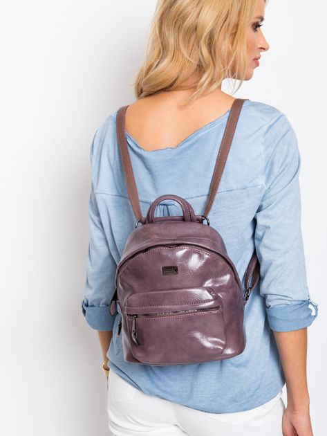 Fioletowy plecak z eko skóry                              zdj.                              6