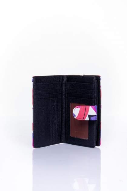 Fioletowy portfel w graficzne wzory                                  zdj.                                  4