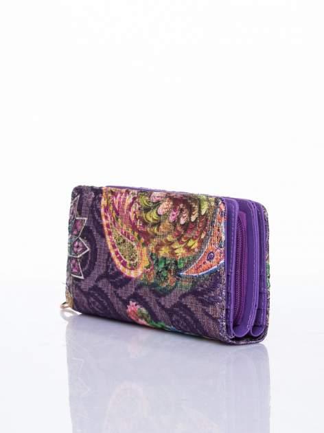 Fioletowy portfel z nadrukiem paisley                                  zdj.                                  3