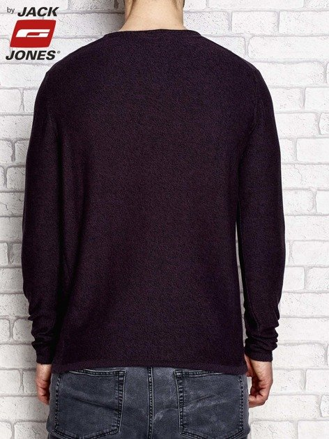Fioletowy sweter męski regular fit
