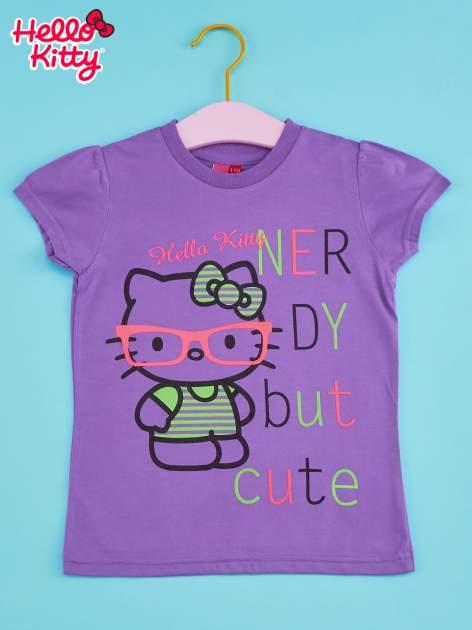 Fioletowy t-shirt dla dziewczynki HELLO KITTY                                  zdj.                                  1