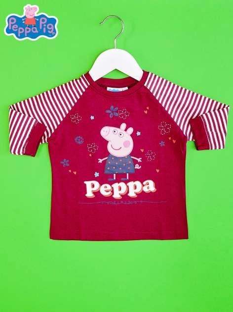 Fioletowy t-shirt dla dziewczynki ŚWINKA PEPPA                                  zdj.                                  1