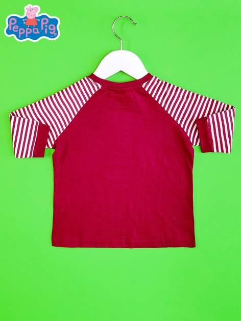 Fioletowy t-shirt dla dziewczynki ŚWINKA PEPPA                                  zdj.                                  2