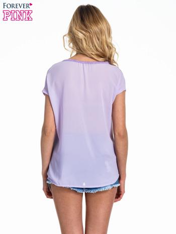 Fioletowy t-shirt z kryształkami                                  zdj.                                  4
