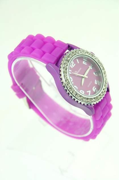 Fioletowy zegarek damski na silikonowym pasku                                  zdj.                                  2
