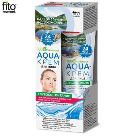 Fitocosmetics Aqua-krem dla twarzy Głębokie odżywianie dla cery suchej i wrażliwej 45 ml