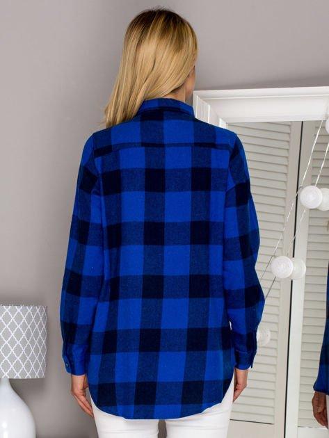 Flanelowa koszula w kratę niebieska                                  zdj.                                  2