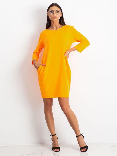 Fluo pomarańczowa sukienka Distinguished                              zdj.                              4