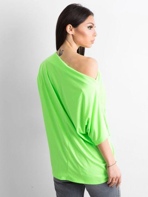 Fluo zielona bluzka z motywem zwierzęcym                              zdj.                              2