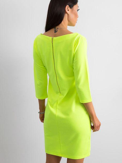 Fluo żółta sukienka z bawełny                              zdj.                              2