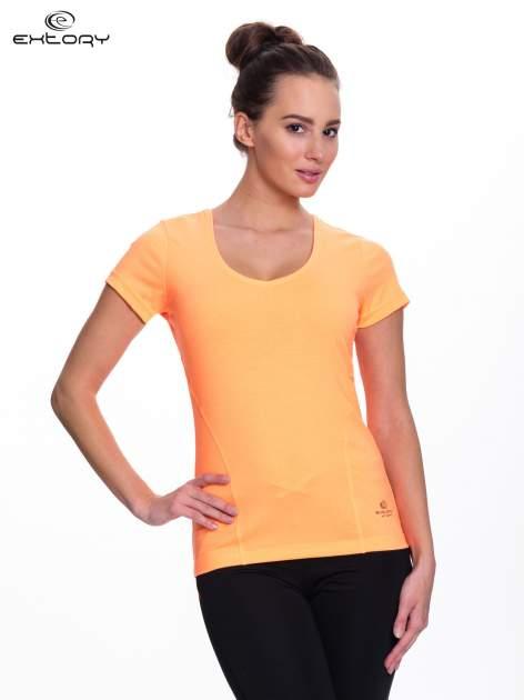 Fluopomarańczowy t-shirt sportowy PLUS SIZE                                  zdj.                                  1