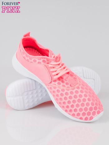 Fluoróżowe buty sportowe textile Drive Me Crazy z siateczki na podeszwie flex                                  zdj.                                  4
