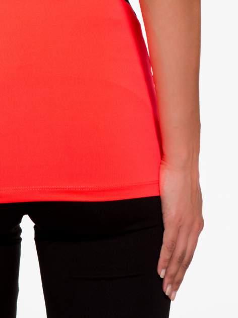 Fluoróżowy termoaktywny top sportowy z siatczką z tyłu ♦ Performance RUN                                  zdj.                                  9