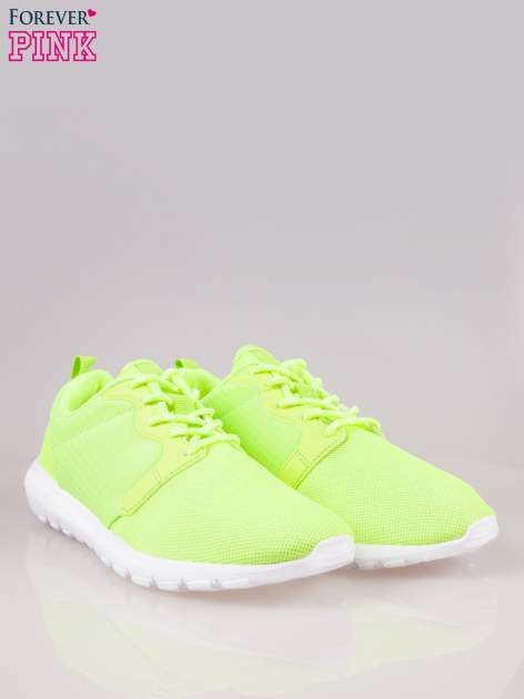 Fluozielone buty sportowe eco leather On Fire                                  zdj.                                  2