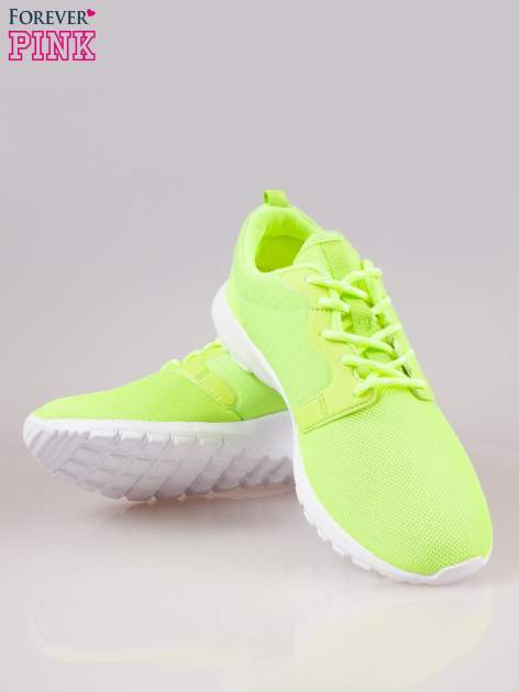 Fluozielone buty sportowe eco leather On Fire                                  zdj.                                  4