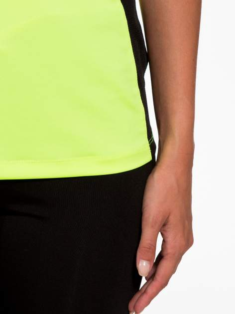 Fluozielony termoaktywny t-shirt sportowy z siateczkowymi modułami ♦ Performance RUN                                  zdj.                                  7