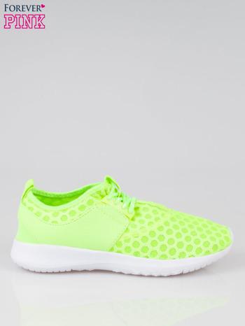 Fluożółte buty sportowe textile Drive Me Crazy z siateczki na podeszwie flex                                  zdj.                                  1