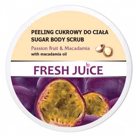 """Fresh Juice Peeling cukrowy do ciała Passion Fruit & Macadamia  225ml"""""""