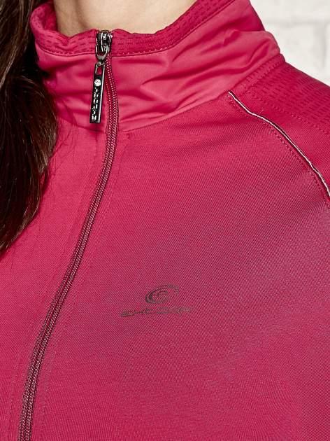 Fuksjowa bluza sportowa fitness z wiązaniem                                  zdj.                                  4