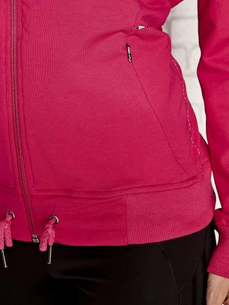 Fuksjowa bluza sportowa fitness ze wstawkami                                  zdj.                                  5