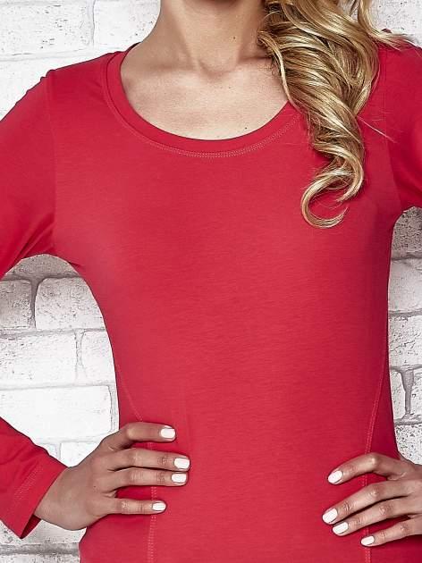 Fuksjowa bluzka sportowa z dekoltem U                                  zdj.                                  5