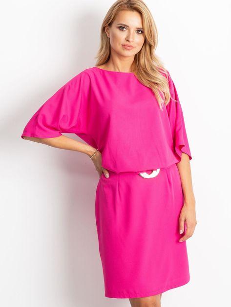 Fuksjowa sukienka Soft                              zdj.                              1