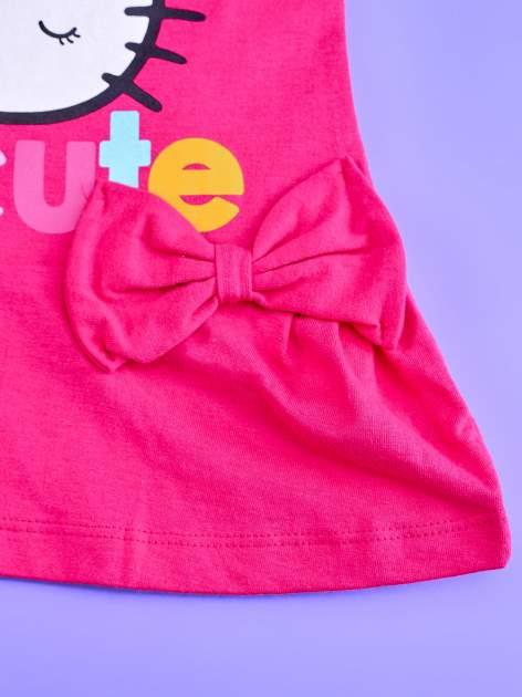 Fuksjowa sukienka dla dziewczynki z kokardkami HELLO KITTY                                  zdj.                                  5