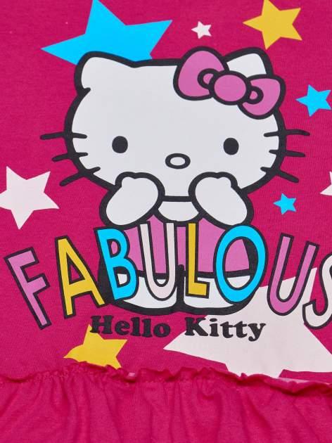 Fuksjowa tunika dla dziewczynki z motywem HELLO KITTY                                  zdj.                                  4