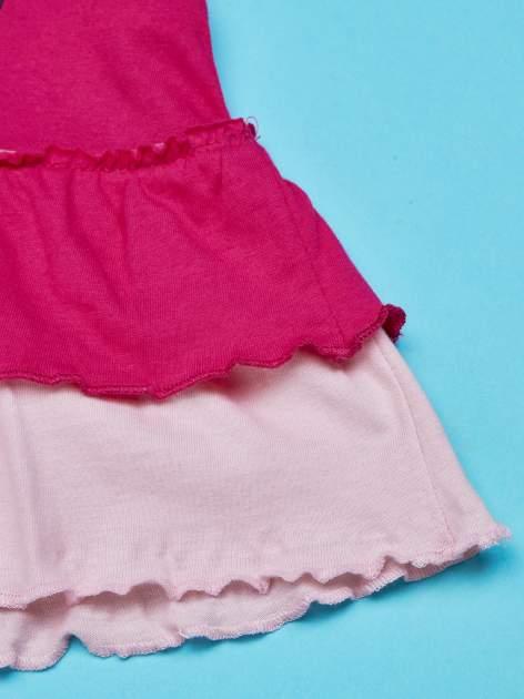 Fuksjowa tunika dla dziewczynki z motywem HELLO KITTY                                  zdj.                                  5
