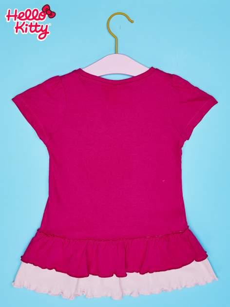 Fuksjowa tunika dla dziewczynki z motywem HELLO KITTY                                  zdj.                                  2
