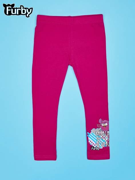Fuksjowe legginsy dla dziewczynki FURBY