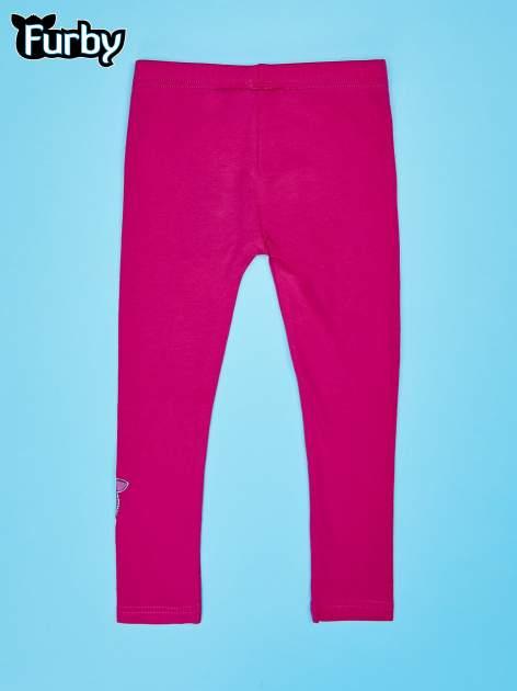 Fuksjowe legginsy dla dziewczynki FURBY                                  zdj.                                  2