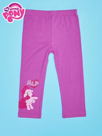Fuksjowe legginsy dla dziewczynki nadruk MY LITTLE PONY                                  zdj.                                  1
