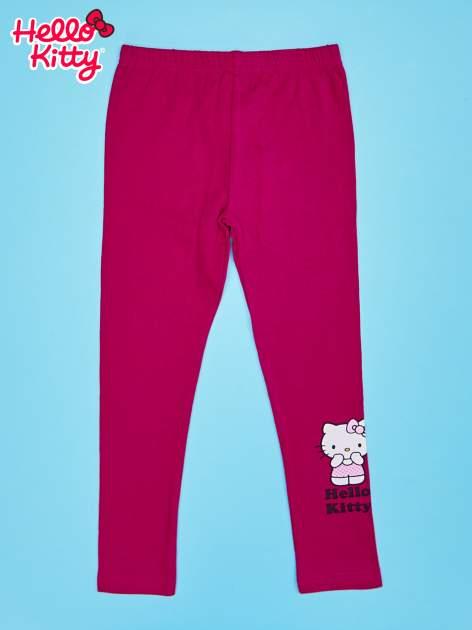 Fuksjowe legginsy dla dziewczynki z motywem HELLO KITTY                                  zdj.                                  1