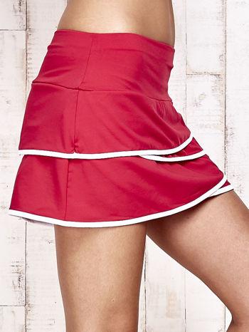 Fuksjowe spodenki spódniczka tenisowa z falbanką                                  zdj.                                  5