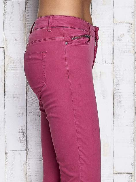 Fuksjowe spodnie z suwakami na nogawkach                              zdj.                              5